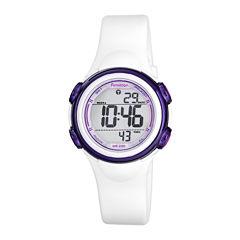 Armitron® ProSport Womens Digital Sport Chronograph Watch 45/7037WHT