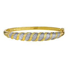1/10 CT. T.W. Diamond Bangle Bracelet