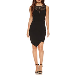 Bisou Bisou Sleeveless Lace Sheath Dress
