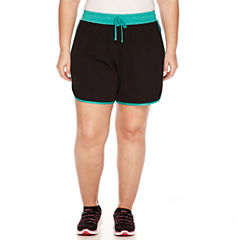 Made For Life Mesh Workout Shorts Plus