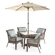 Outdoor Oasis™  Latigo 5pc Square Dining Set