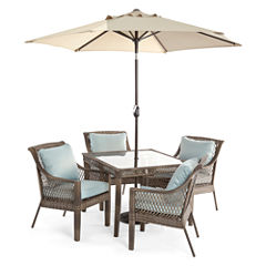 Outdoor Oasis™  Latigo 5pc Square Dining Set