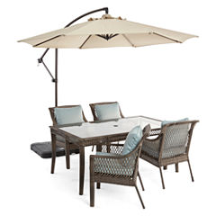 Outdoor Oasis™  Latigo 5pc Rectangular Dining Set