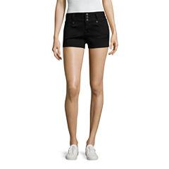 Blue Spice High-Rise Denim Shorts-Juniors