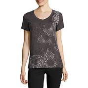 Made For Life Short Sleeve V Neck T-Shirt-Petites