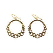 Art Smith by BARSE Brass Hoop Earrings