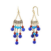 Art Smith by BARSE Multi-Stone Chandelier Earrings