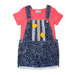 Little Lass 2-pc. Shortall Set Girls