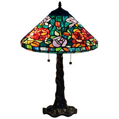Amora Lighting AM1104TL16 Tiffany-style Roses Design Table Lamp 24 Inches Tall