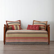 Retro Chic Cotton Striped Daybed Cover & Accessories