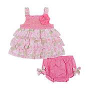 Little Lass® 2-pc Ruffle Dress Set - Baby Girls 3m-18m