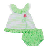 Little Lass® 2-pc. Crochet Dress Set - Baby Girls 3m-18m