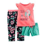 Carter's® 3-pc. Seahorse Pajama Set - Baby Girls 12m-24m