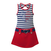 Lilt Marsha Sleeveless Americana Dress - Preschool Girls 4-6x