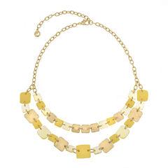 Gloria Vanderbilt Womens Yellow Collar Necklace