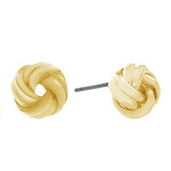 Gloria Vanderbilt Yellow Stud Earrings