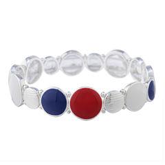 Gloria Vanderbilt Womens Multi Color Stretch Bracelet