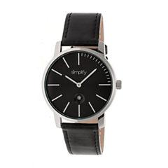 Simplify The 4700 Unisex Black Strap Watch-Sim4702