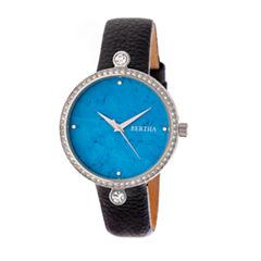 Bertha Frances Womens Black Strap Watch-Bthbr6402
