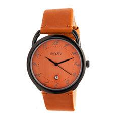 Simplify The 4900 Unisex Orange Strap Watch-Sim4905