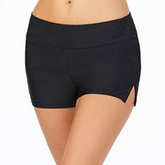 St. John's Bay Solid Boyshort Swimsuit Bottom