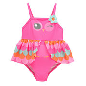 Candlesticks Owl Girls One Piece Swimsuit-Baby