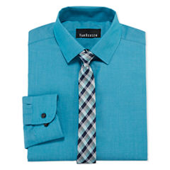 Van Heusen Shirt + Tie Set - Big Kid Boys