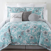 JCPenney Home Pencil Floral 4-pc. Comforter Set & Accessories