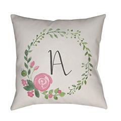 Decor 140 Floral Letter Square Throw Pillow