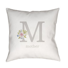 Decor 140 M Is For Mother Square Throw Pillow