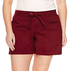 Boutique + Tie Waist Shorts - Plus