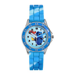 Disney Finding Dory Time Teacher Blue Tie-Dye Strap Watch