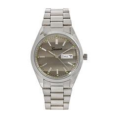 Geneva Womens Silver-Tone Strap Bracelet Watch