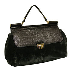 Adrienne Landau Rolled Top Satchel