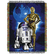 Star Wars R2D2 and C-3PO Tapestry Throw