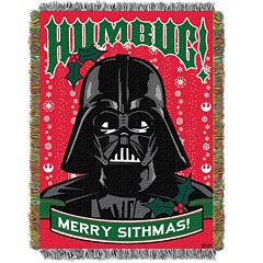 Star Wars Darth Vader Holiday Tapestry Throw