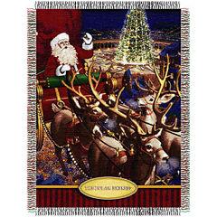 Santa's Flight Tapestry Throw
