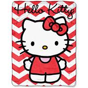 Hello Kitty Chevron Throw