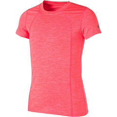 New Balance Short Sleeve Round Neck T-Shirt-Big Kid Girls