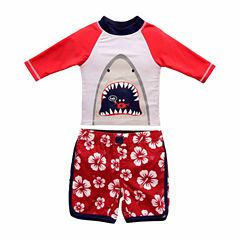 Pattern Rash Guard Set - Toddler