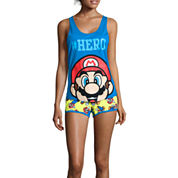 Nintendo® Mario Slouchy Tank Top and Shorts Pajama Set
