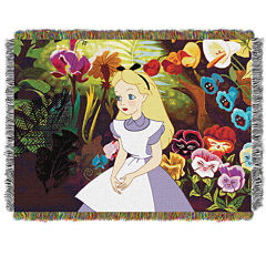 Disney Alice in Wonderland Tapestry Throw
