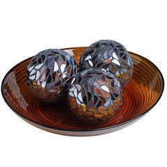 4-pc. Mosaic Orb and Bowl Set