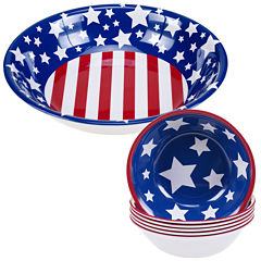 Certified International Stars & Stripes 5-pc. Melamine Salad and Serving Set