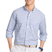 IZOD® Long-Sleeve Plaid Oxford Button-Front Shirt