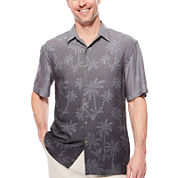 Island Shores™ Short-Sleeve Printed Camp Shirt