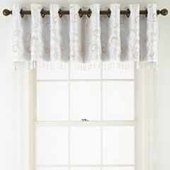 Royal Velvet® Plaza Embroidery Grommet-Top Tailored Valance