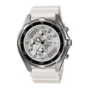 Casio Mens White Resin Strap Chronograph Watch AMW380-7AV