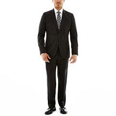 Stafford® Travel Charcoal Gabardine Suit Separates—Slim Fit