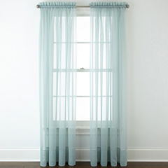 Liz Claiborne® Lisette Rod-Pocket Sheer Window Treatments